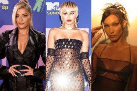 不只女神卡卡服裝超吸睛!麥莉希拉、貝拉哈蒂德VMA紅毯尺度大到只遮重點部位