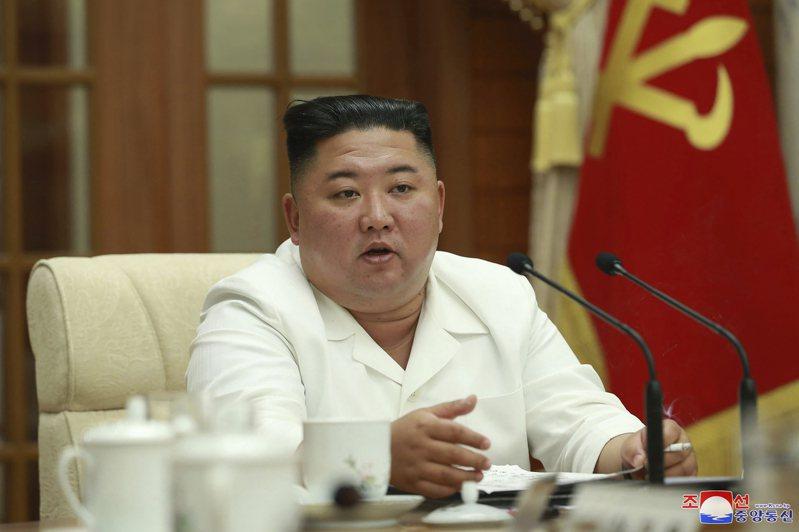 北韓領導人金正恩。 美聯社