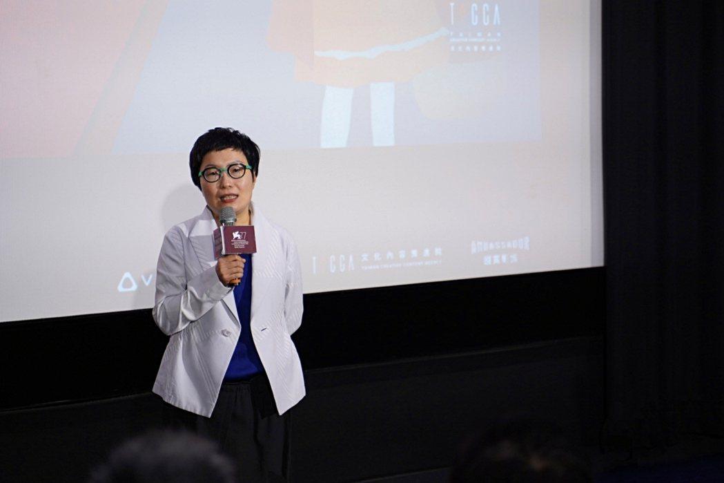 文策院董事長丁曉菁。 圖/沈佩臻攝影