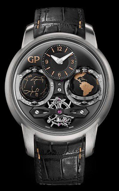 全世界限量8只的Cosmo Infinity腕表,結合地球儀、天體儀和陀飛輪,悉...