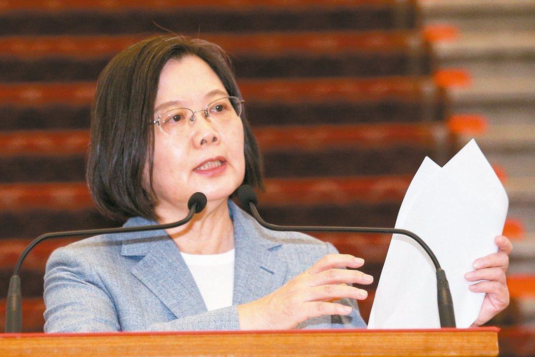 蔡英文總統表示,在確保安全無虞的前提下,台灣將逐步開放美豬、美牛進口。圖/聯合報系資料照片