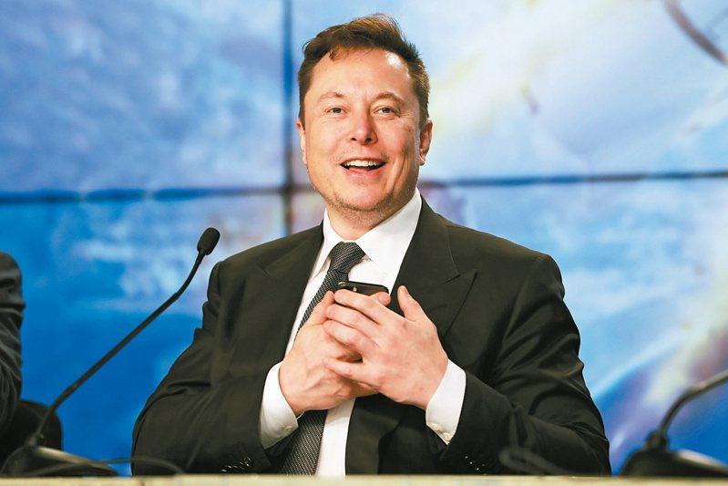 特斯拉創辦人馬斯克(Elon Musk)現在已成為全世界第三大富豪。(美聯社)