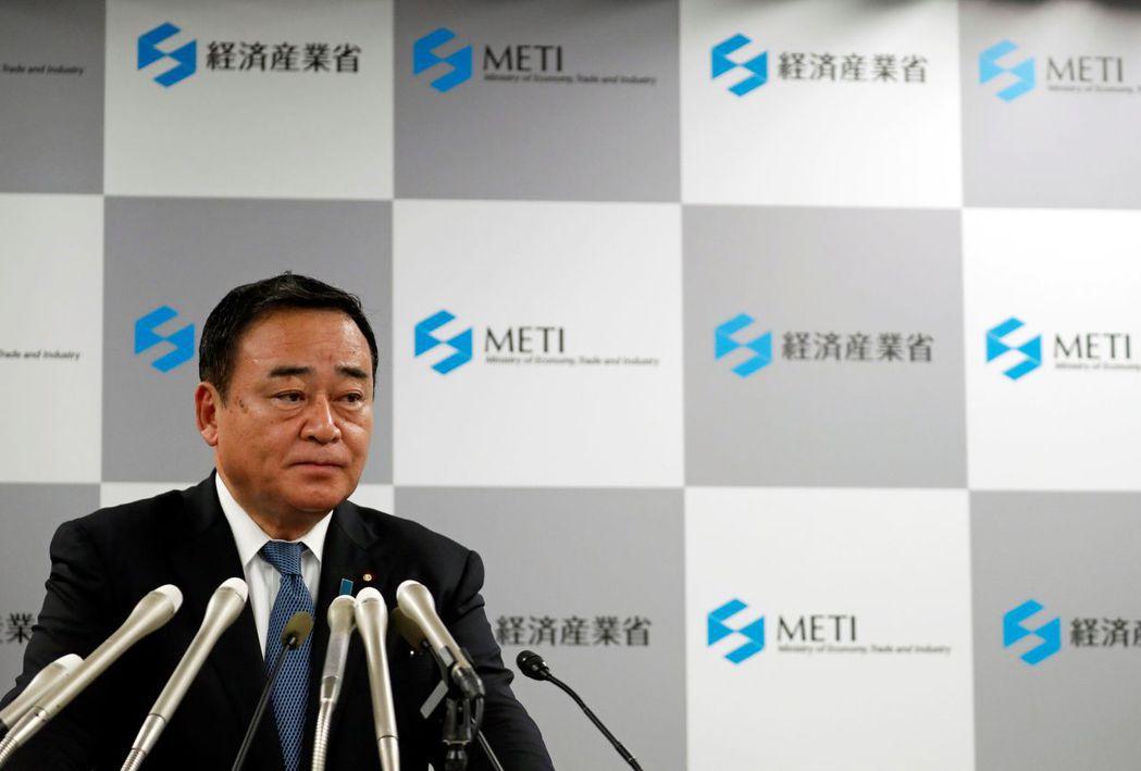 日本經濟產業大臣梶山弘志。(圖/路透)