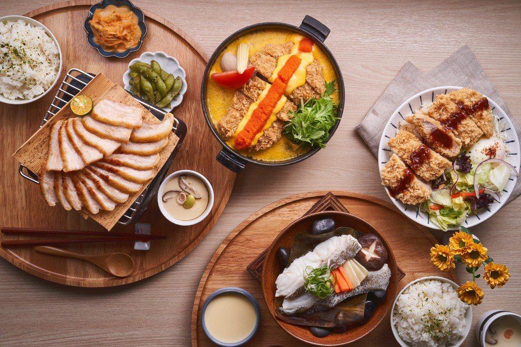 王品新品牌主打定食界CP值最高,「町食就是定食」7品套餐超文青。圖/王品提供