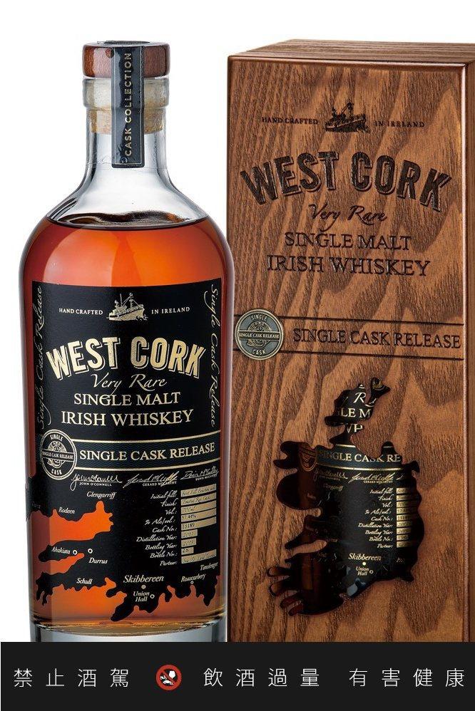 愛爾蘭威斯克2013單一麥芽威士忌單桶原酒,建議售價2980元。圖/陸海洋行提供...
