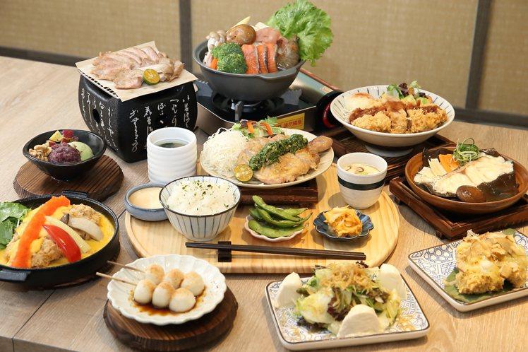 町食就是定食提供有17種不同的主食供民眾選擇。記者陳睿中/攝影