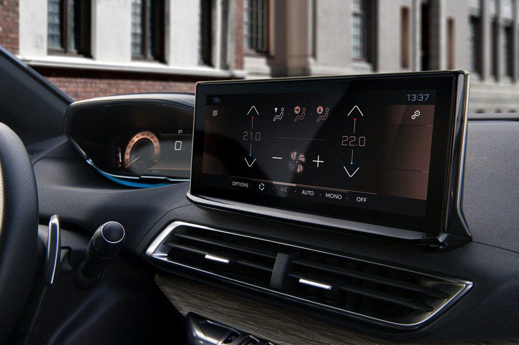 中央觸控螢幕已經由小改前的8吋升級至10吋。 摘自Peugeot