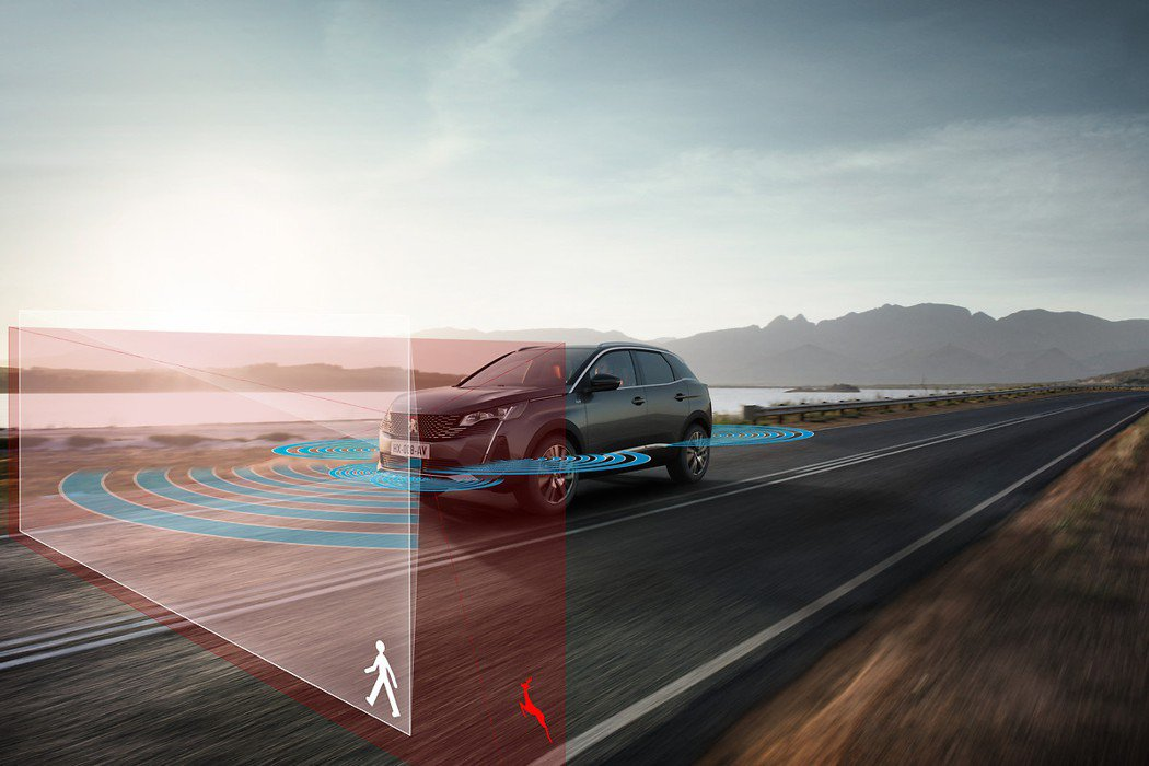 AEB從5km/h到140km/h都能作動。 摘自Peugeot