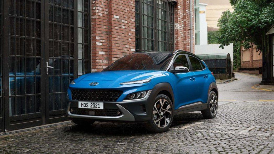 小改款Hyundai Kona在今日(2)亮相。 摘自Hyundai