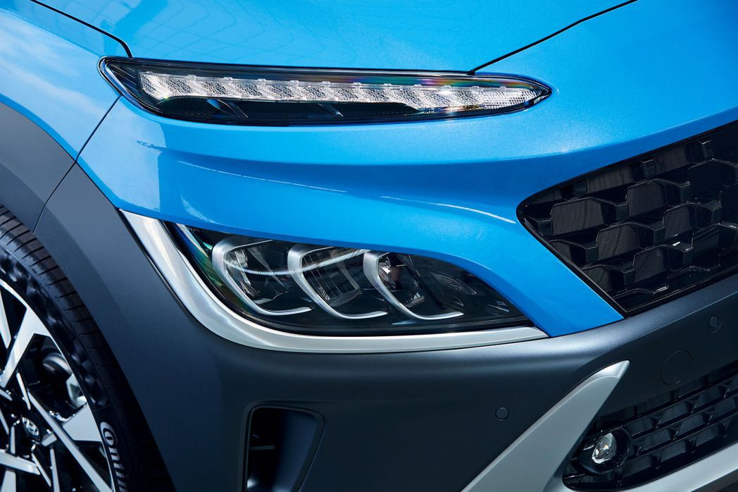 小改款Hyundai Kona燈組部分做了更動。 摘自Hyundai