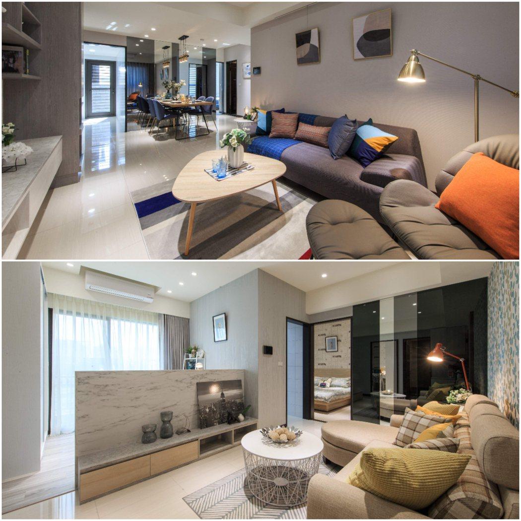 「合陽合仰」全區規劃2-3房,2房還可另闢+1的空間,使用彈性大,採光通風佳。