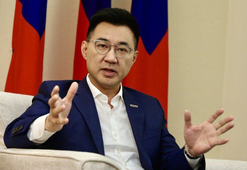 國民黨主席江啟臣。記者黃義書/攝影