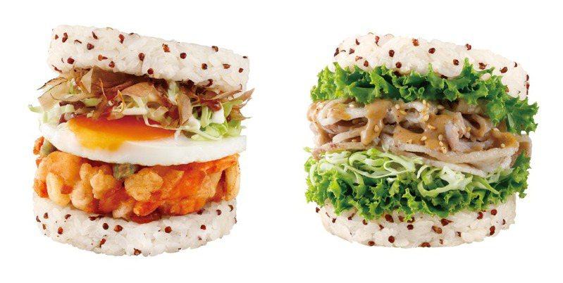 摩斯新推出「月見大阪燒珍珠堡」以及「柚香胡麻豚燒珍珠堡」等新品。圖/摩斯漢堡提供