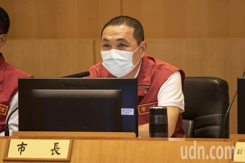 新北市長侯友宜說,面對監察院對新北市的糾正,都會悉心的去檢討。記者王敏旭/攝影
