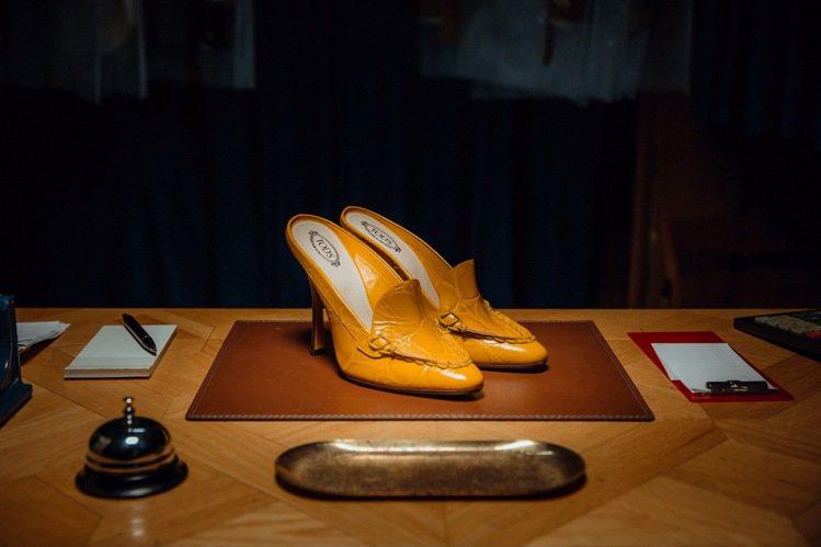 TOD'S Spiga 壓紋高跟鞋,32,200元。圖/迪生提供