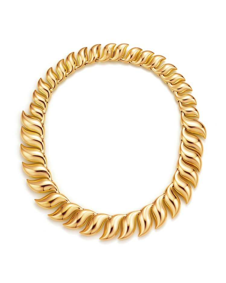 Tiffany & Co. Elsa Peretti 18K金羽毛造型項鍊,價格...