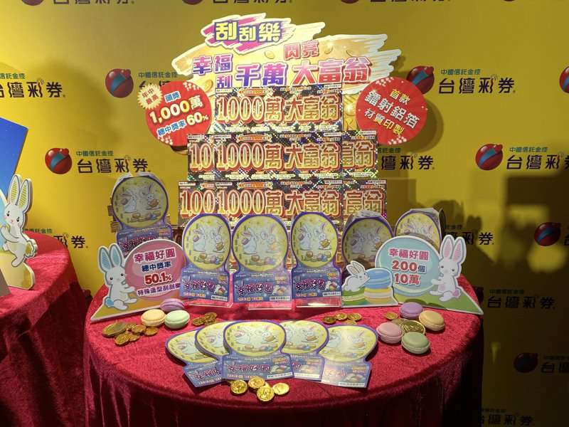 台灣彩券自即日起推出2款的刮刮樂創意新品,其中「1,000萬大富翁」頭獎高達1,000萬元。記者黃筱晴/攝影