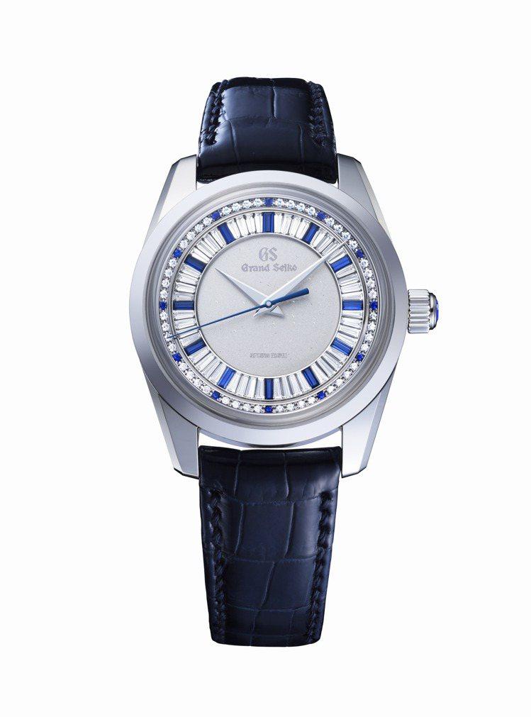 Grand Seiko旗艦店限定SBGD205八日鍊珠寶腕表,鉑金表殼,共鑲嵌9...