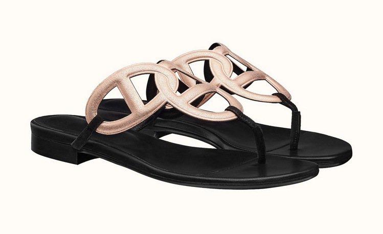 Beach系列平底涼鞋,20,400元。圖/愛馬仕提供