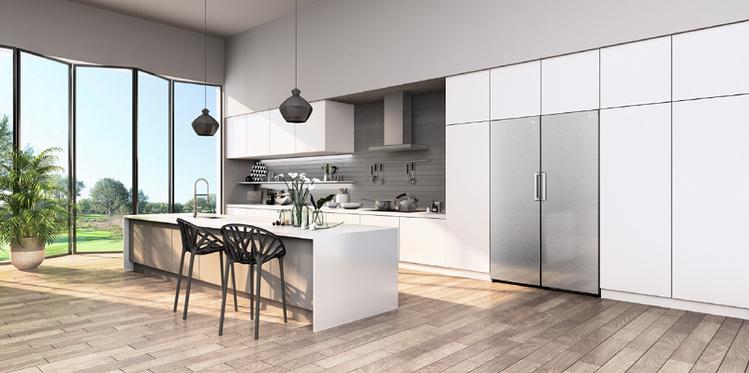 LG內嵌式Match冰箱能與標準廚房櫃完美結合,呈現極致簡約風格。圖/LG電子提...