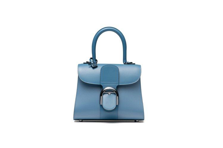 DELVAUX Brillant丹寧藍漸層牛皮小型肩背手提包,16萬8,100元...