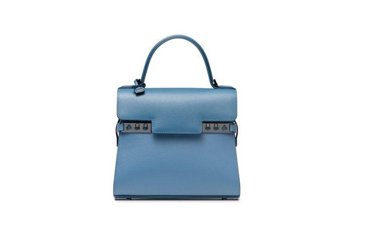 DELVAUX Tempete丹寧藍漸層光滑牛皮肩背手提包,15萬9,900元。...