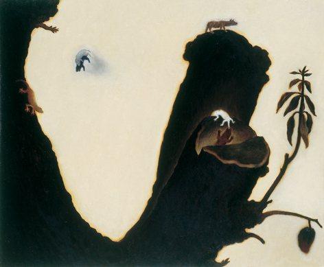 蘇旺伸作品「樹結果」,2001、60.5*72.5cm、油彩/畫布。圖/姚謙提供