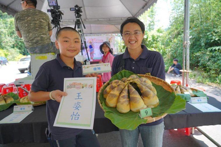 華音山莊綠竹筍今年參加復興區綠竹筍評鑑勇奪優等獎。 圖/王姿怡提供