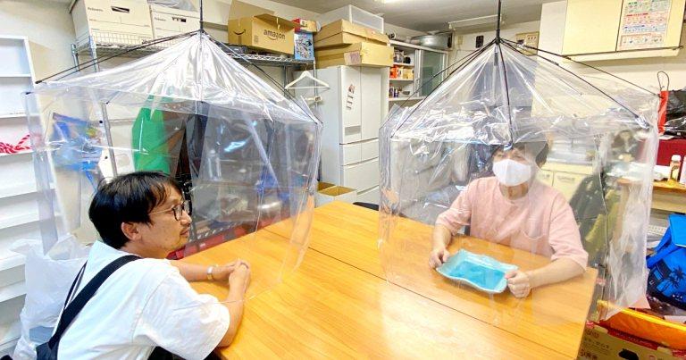 日本男子Yoshio發明「抗疫決戰兵器」。圖擷自RocketNews24