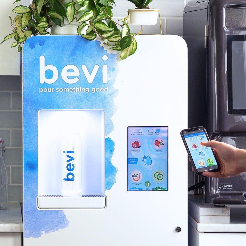 美國Bevi公司推無須觸控、用戶可以透過掃描機器上的QR code,就可以客製自...