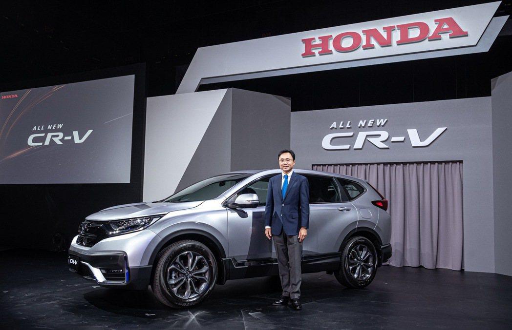 全新小改款Honda CR-V,年銷售目標約2萬台。 圖/Honda Taiwa...