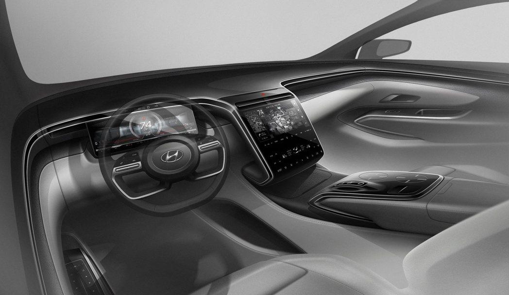 全新第四代Hyundai Tucson將採用數位儀表、大尺寸中控螢幕,內裝樣貌與...