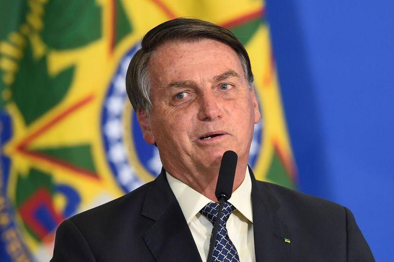 巴西總統波索納洛。法新社