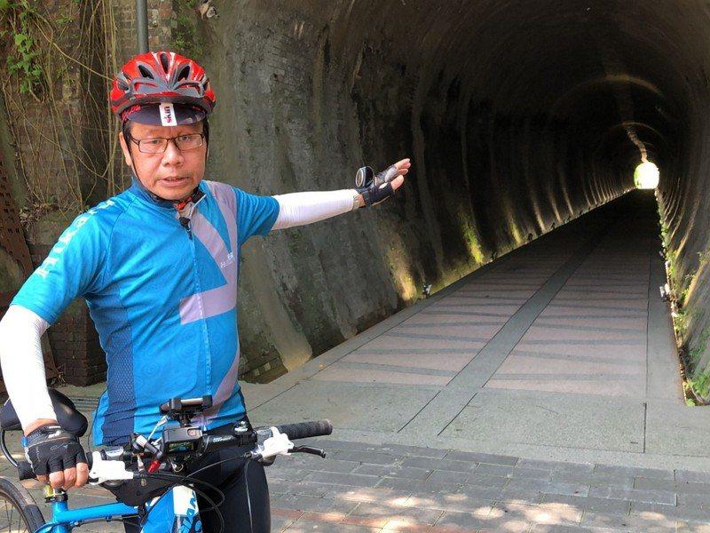 立委沈發惠持續爭取汐止基隆河自行車道北銜接基隆,以及直通南港。 圖/觀天下有線電視提供