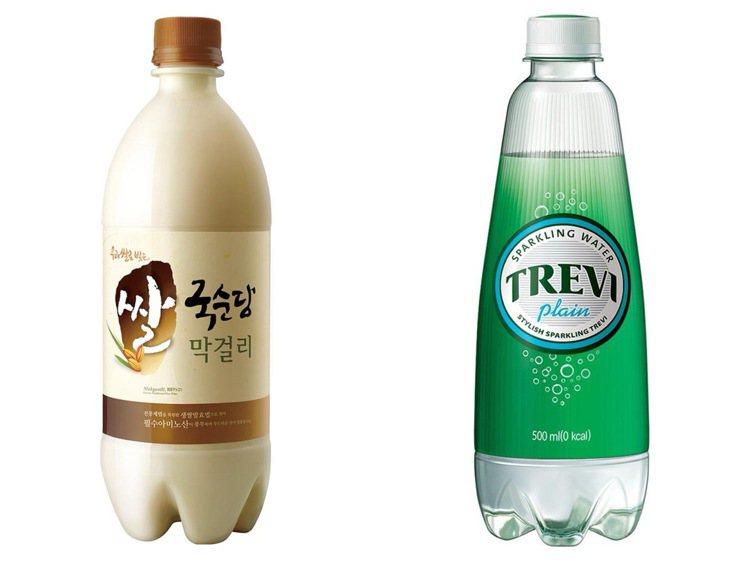 韓式調酒正夯,馬格利酒與氣泡水2:1調配,有著汽水般的口感與微甜香氣。圖/家樂福...