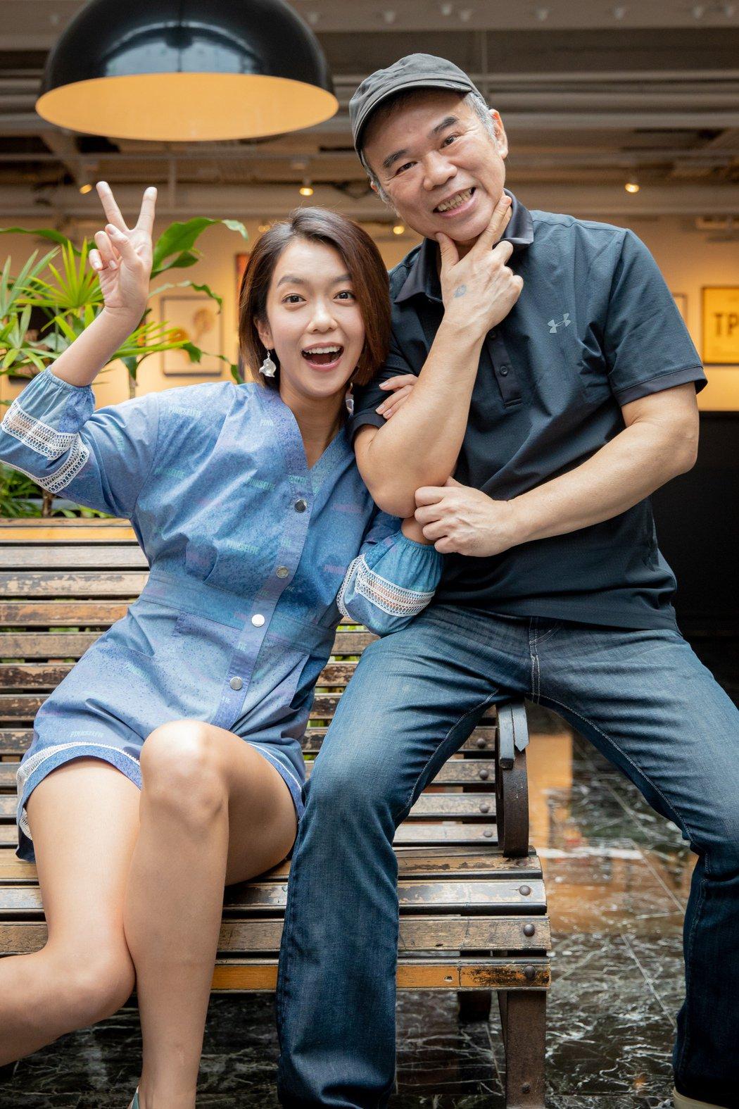 陳玉勳(右)找來大霈擔任女主角,直呼壓力非常大。圖/牽猴子提供