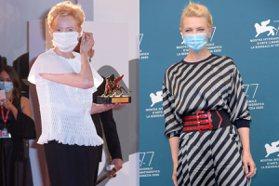 兩大仙氣女神同台!威尼斯影展紅毯滿滿口罩亮點 古一大師、海拉成最佳防疫模範
