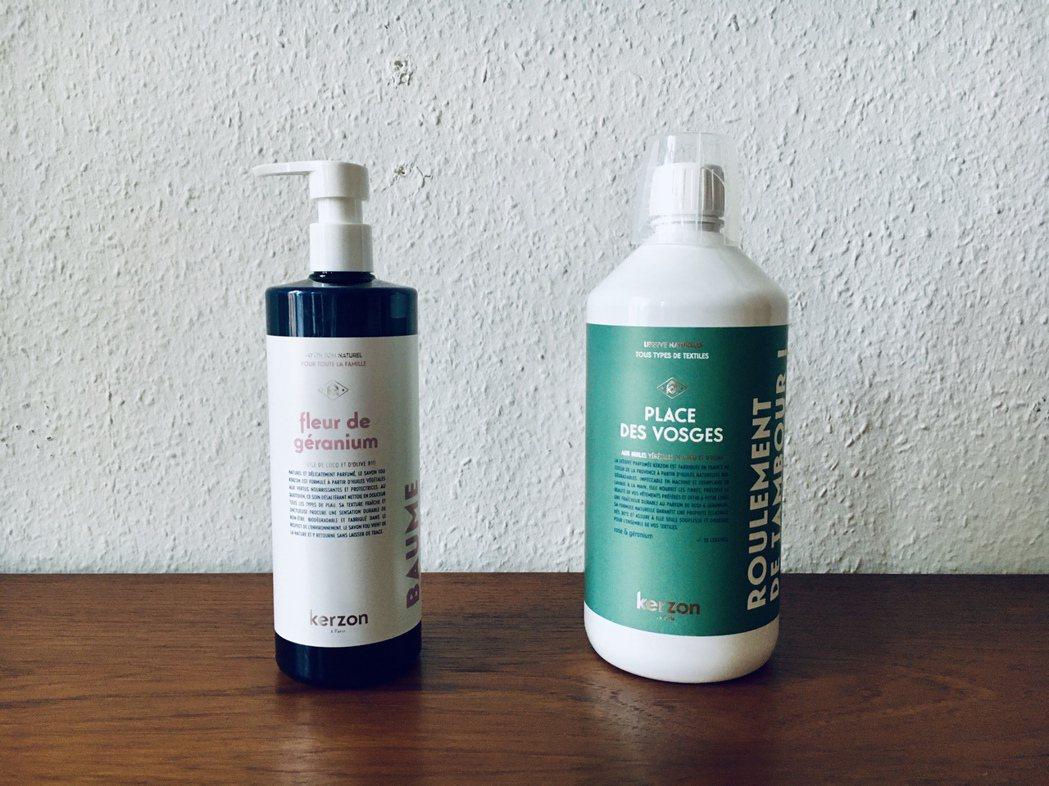 包裝瓶也可100%回收,環保主義是當今品牌的顯學。 圖/許育華拍攝