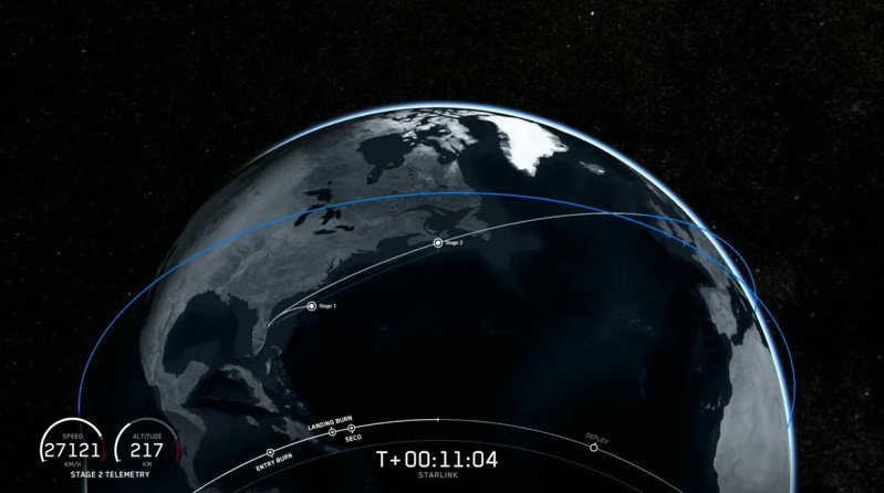 圖擷自SpaceX Youtube