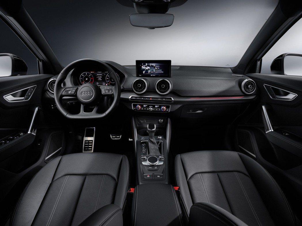 小改款Audi Q2內裝。 摘自Audi