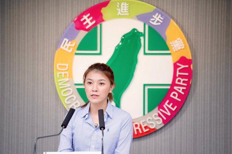民進黨發言人顏若芳。聯合報資料照片