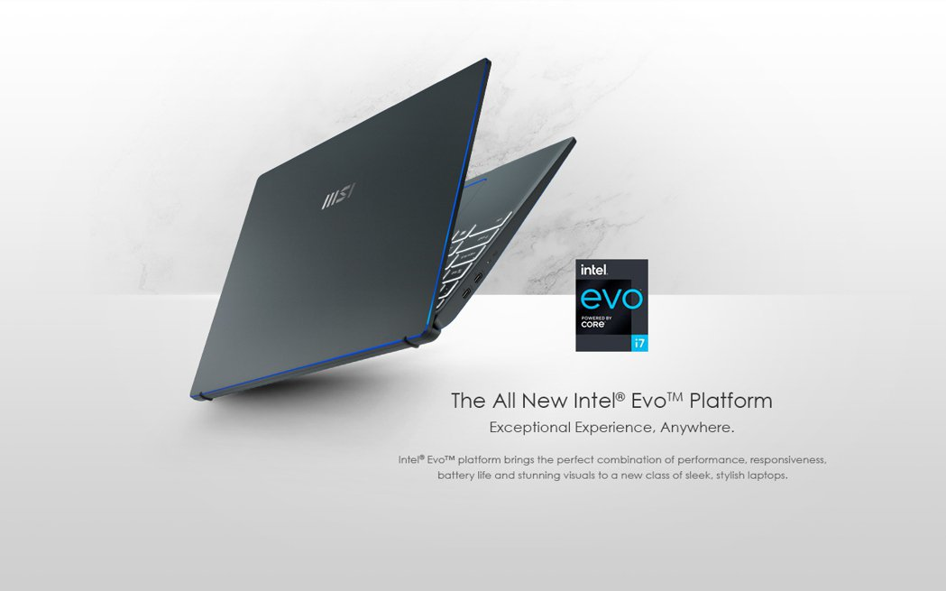 微星「Prestige 14 Evo」為全球首批通過Intel Evo認證的筆記...