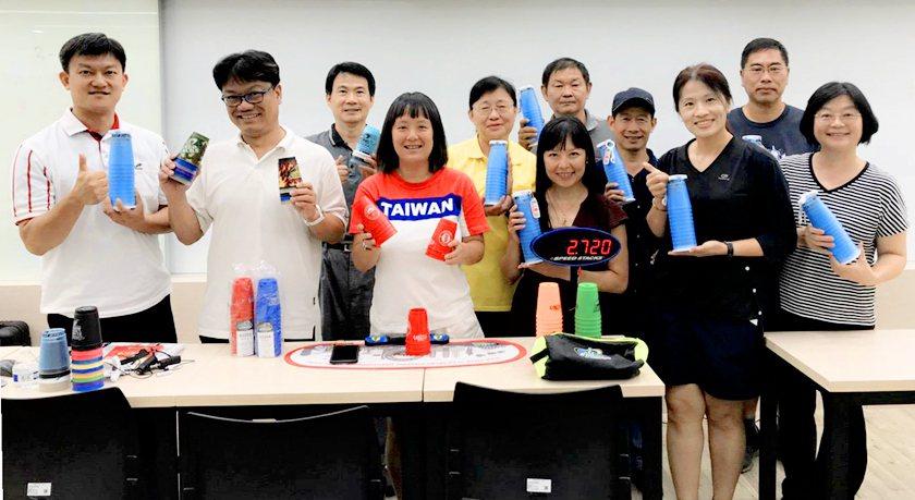 中國科大教職員參與C級競技疊杯運動教練培訓。 校方/提供