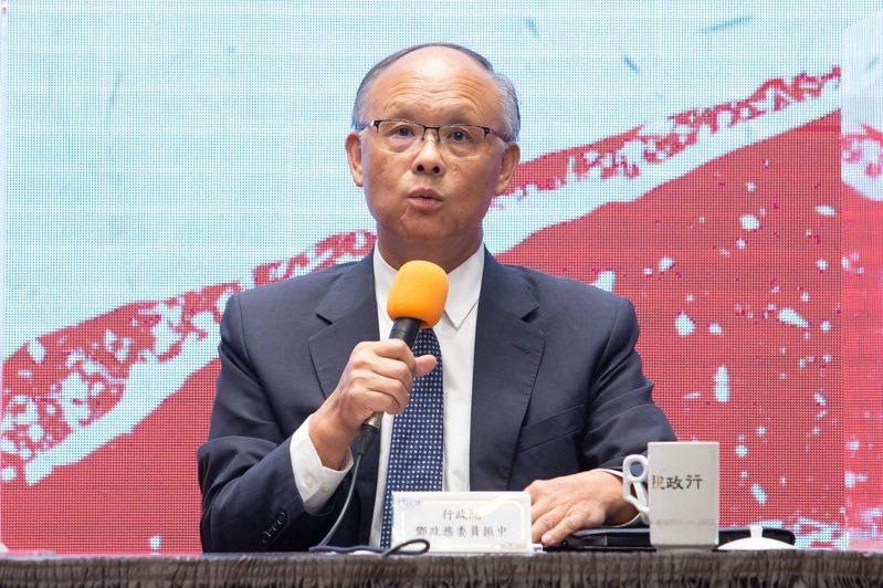 行政院政務委員鄧振中。聯合報資料照片