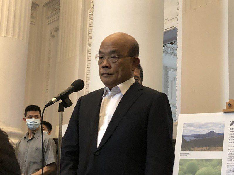 行政院長蘇貞昌今參訪國立台灣博物館。記者賴于榛/攝影