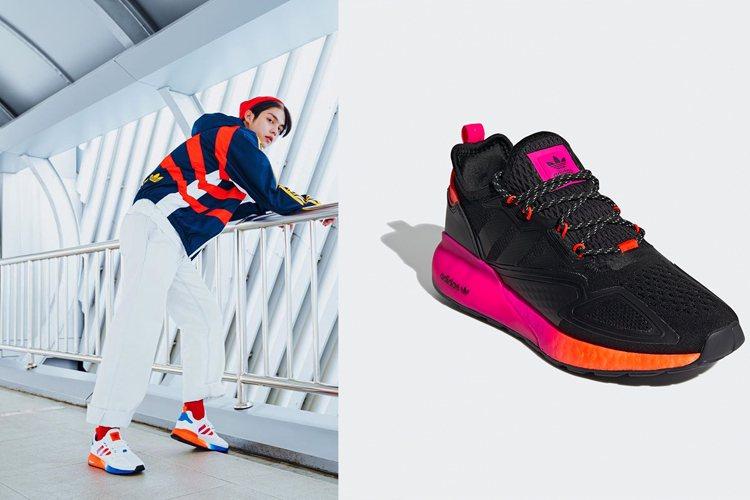 泰國人氣男星Bright就曾搶先穿著ZX系列鞋款造成熱銷。圖/摘自instagr...