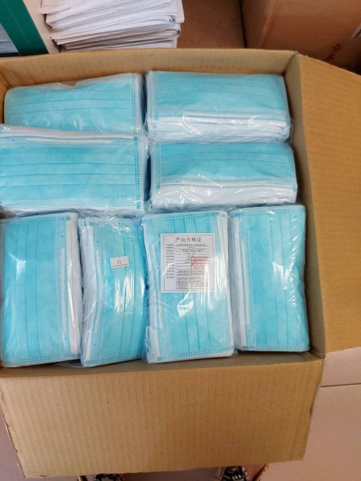 中國大陸製的非醫療用口罩。圖/取自立法委員林奕華臉書