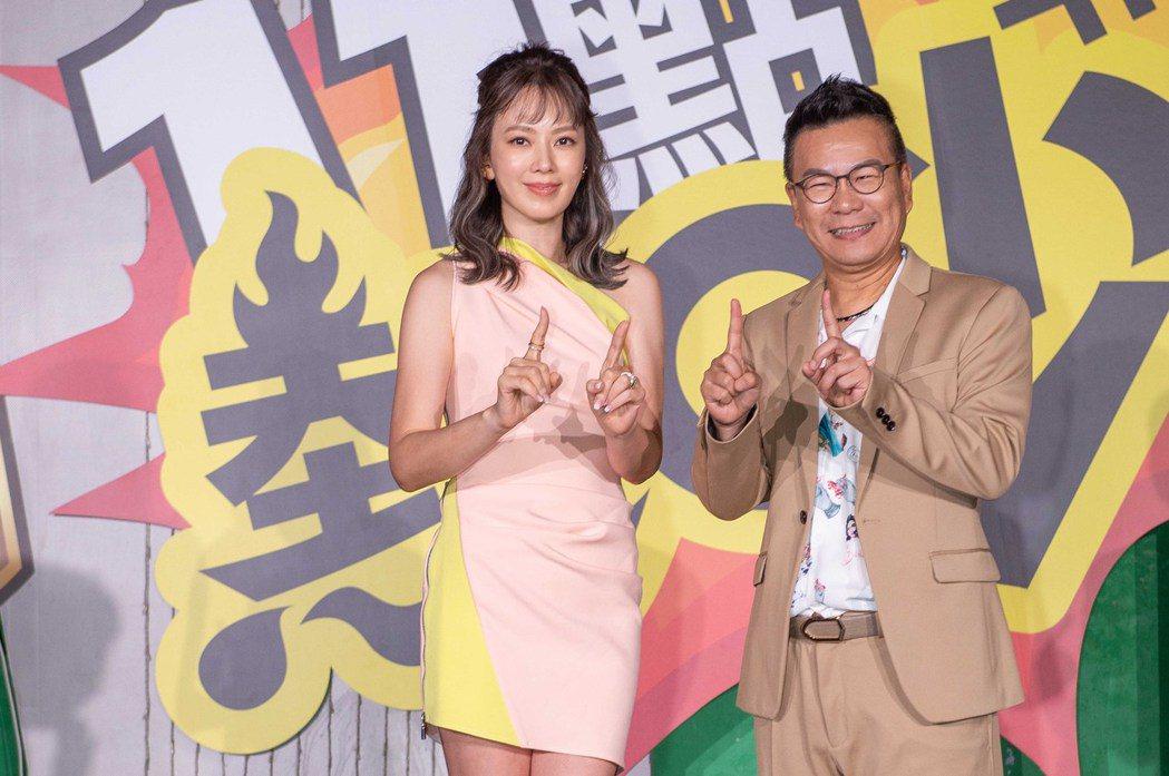 沈玉琳(右)和Melody為了新節目豁出去了,說若收視破1,一個穿丁字褲、一個穿