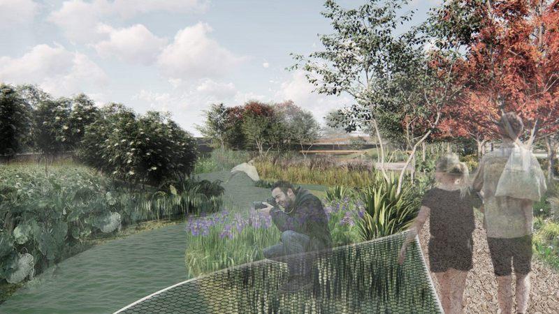 雙溪河口濕地公園模擬圖。圖/臺北市政府工務局大地工程處