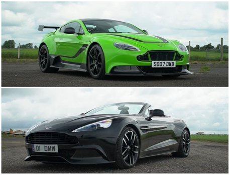 影/絕種的V12之戰!Aston Martin Vanquish Vs. Vantage GT12